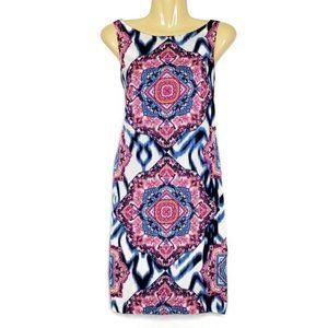 Vince Camuto Ikat & Mandala Print Dress Size 12